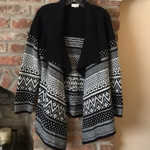 Maison Jules Cardigan Comfy sweater Black White M